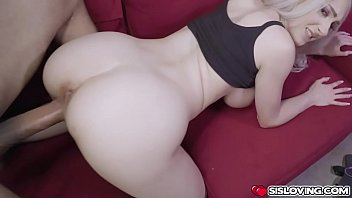 Stepsis sits on her stepbros dick like a pornstar going for an intense cock ride