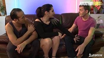 AMATEUR EURO - #Mylene Johnson - Sexy French BBW Tries DP With Two Horny Studs