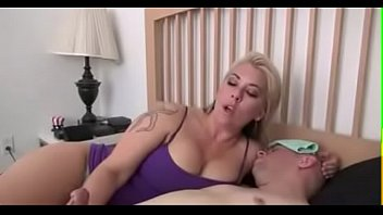 Mom teaching son about sex