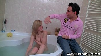 Firstanalquest.com - Anal Doggystyle In The Bathtub With A Cute Czech Girl