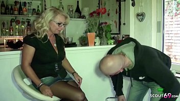 German Saggy Tits Wife Jenny pay the Homeworker with Fuck