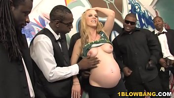 Preg gang bang - Pregnant hydii may bbc interracial gangbang