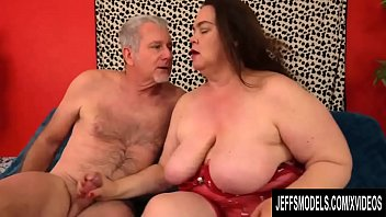 Cock Hungry BBW Darling Geisha Pleasures a Grandpa with Mouth and Pussy