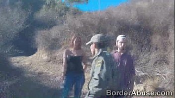 Pretty Brunettes Pussy Pounded By Border