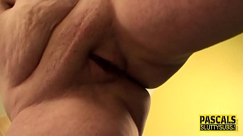 Bound chubby sub milf