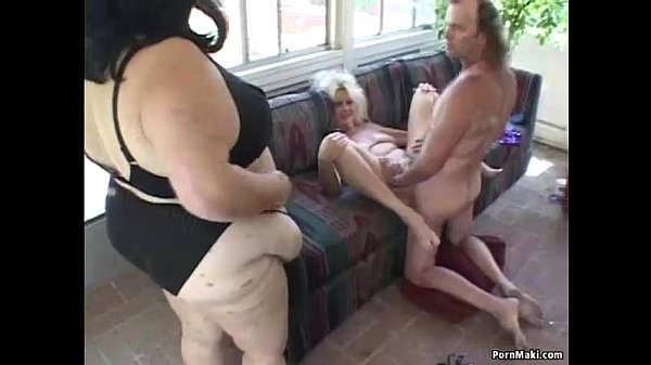 Granny and BBW in threesome action Thumb