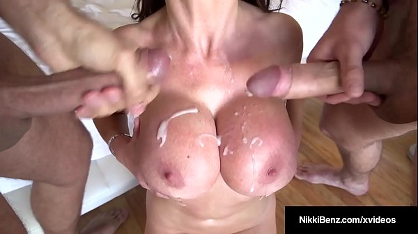 Penthouse Pet Nikki Benz Blows & Bangs 2 Big Squirting Cocks