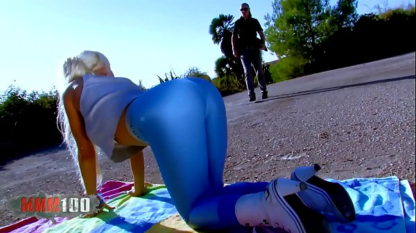 Miss Stacy in hot tight shiny leggings fucked hard outdoors Thumb