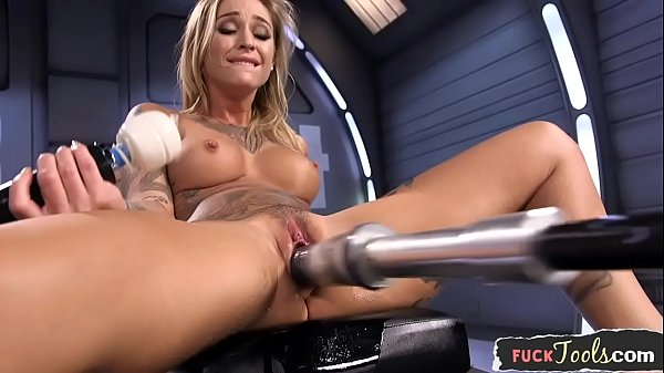 Amazing milf dildo stuffed by sex machine