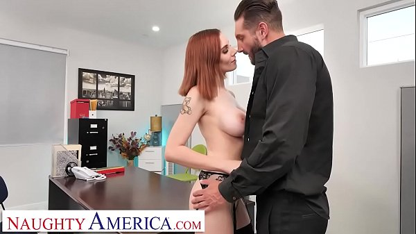 Naughty America - Lilian Stone drains her boss' balls to help relieve his stress Thumb