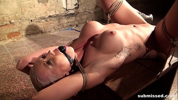 Victoria tied gagged and vibed hard