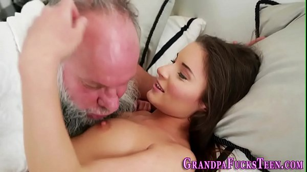 Teen bangs old pervert