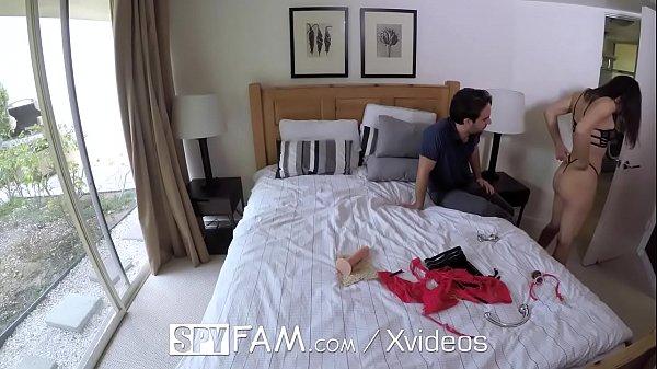 SpyFam Step dad cuts Abella Danger off unless she fucks him