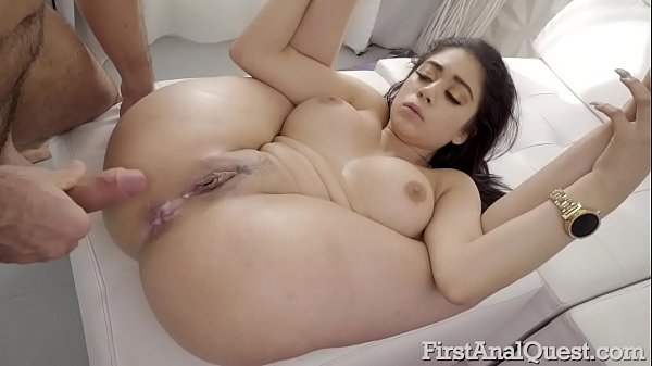 Busty Latina Giselle Montes loves her fist anal sex with cum on anus!
