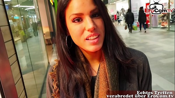 German amateur latina teen public pick up in shoppingcenter and POV fuck with huge cum loads