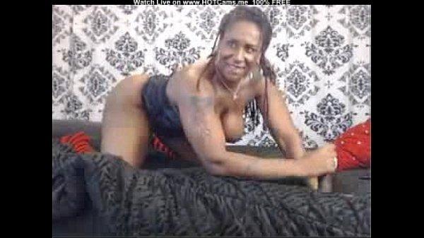 Ebony Teen Bounces Dildo