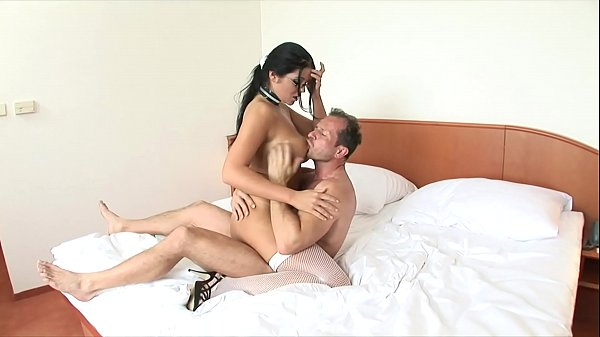 Gorgeous girl Christina Jolie with huge rack and glasses gets a big dick in her wet cunt hole Thumb