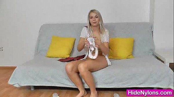 Blonde womens feet and legs in sexy sheer pantyhose Fucking Hot Blonde Nathaly Sheer Nylons Legs Xvideos Com