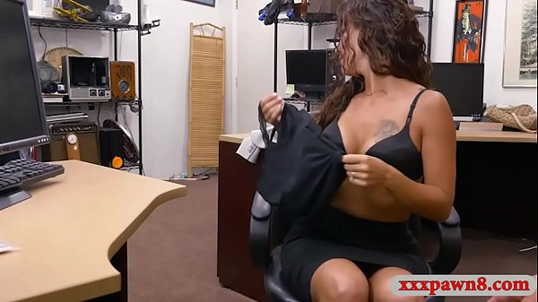Curly haired babe pounded by pawn dude at the pawnshop