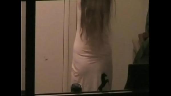 Bedroom window Spy - Wendy gets undressed