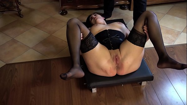 Obedient slave whipped while her legs spread Thumb