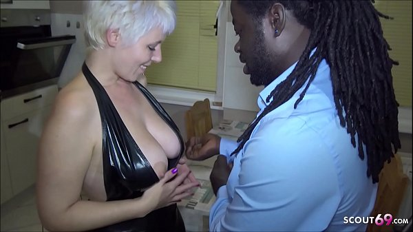 German milf with big tits has her pussy fucked hard by a big dick