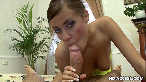 Beautiful POV blowjob with hottie