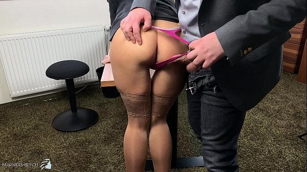 boss uses sexy secretary in highheels and stockings doggystyle, Business Bitch Thumb