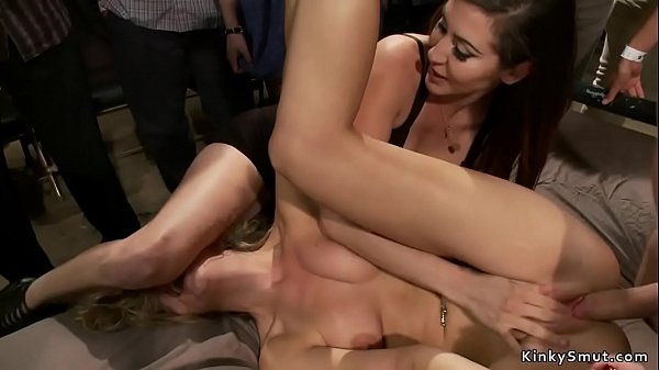 Bound blonde public groped and fucked Thumb