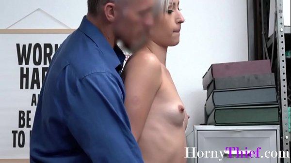 Blonde Teen Hottie Stuffs Things Up Her Ass- Goldie Glock Thumb