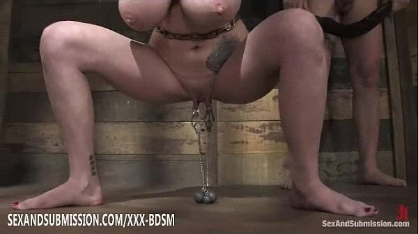 Bound redhead babe gives blowjob to bald head