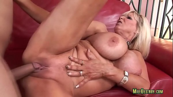 Dirty Blonde Cougar Fucks on the Couch Thumb