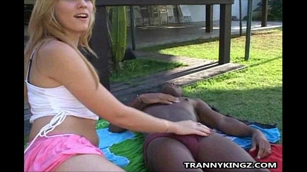 Blonde Shemale Outdoor Interracial Anal Fucked Thumb