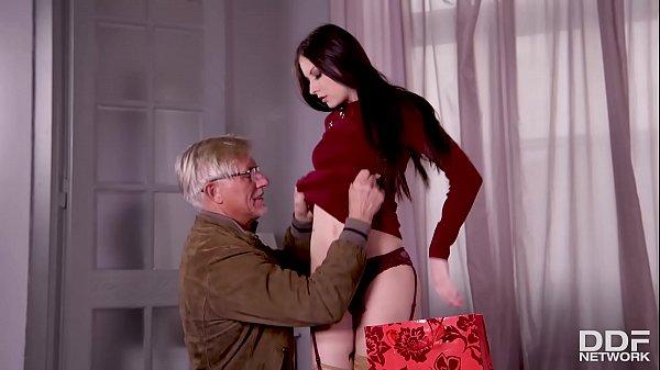 Young Milf Rebecca Volpetti's Grandpa fucks her tight asshole with old dick Thumb