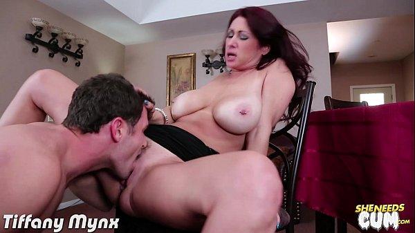 Busty milf Tiffany Mynx take cock for cum
