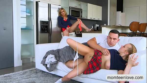 Cory Cregall: Cory Chase And Bailey Brookes Threesome On The Couch