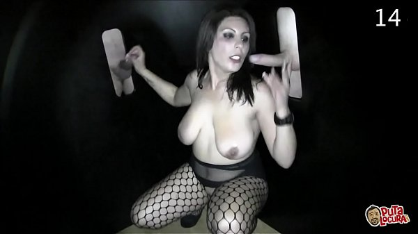 2 big tits for 17 loaded cocks. GloryHole Katia Thumb