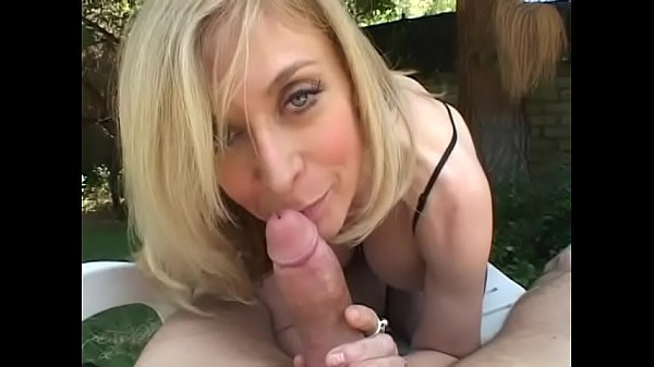 Blonde housewife sits by the pool when dude comes to fuck her Thumb