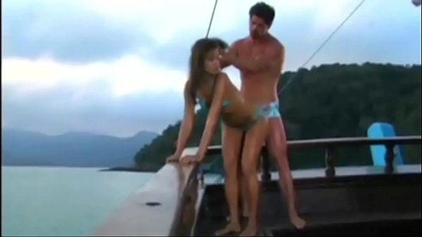 Girl grinds her man on a yacht deck Thumb