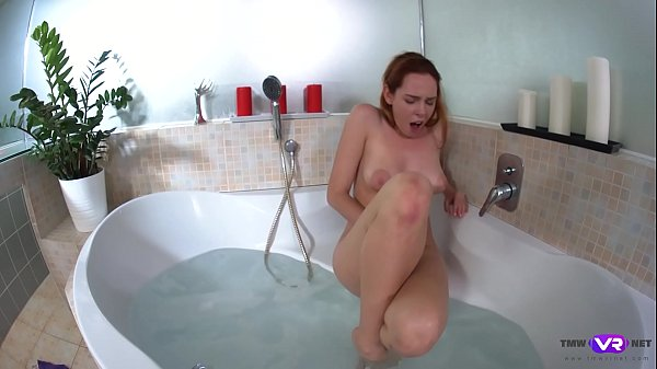 TmwVRnet.com - Candy Red - Soapy masturbation in a bath