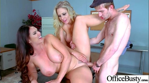(Alison Tyler & Julia Ann) Big Rounds Jugg Girl Ger Hard Style Sex In Office video-03 Thumb
