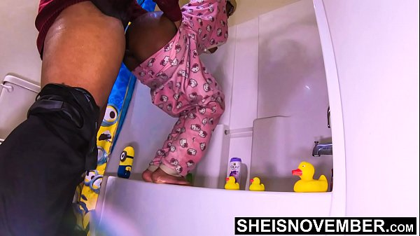 My Real Creampie Inside My Real Step Daughters Really Good Pussy Standing Up, While My Real Wife Is In Bed. Black StepDaddy ExtremeDoggystyle And PussyCumshot on Sheisnovember