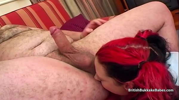 Rubbing cum in her face with his ass