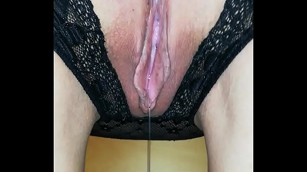 Crotchless Pantie Dripping wet Pussy Thumb