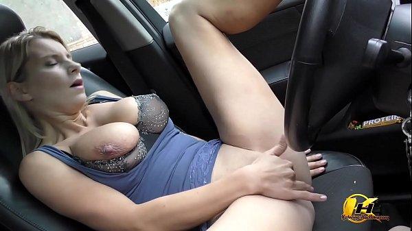 Masturbate at Public Parking in Car Katerina Hartlova Thumb