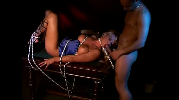 Blonde, sexy, tied up and buggered!