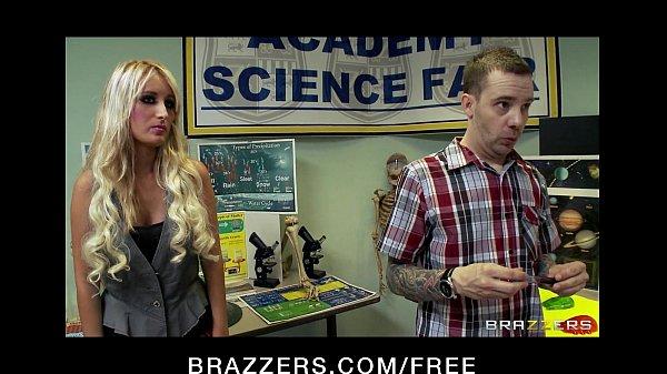 Sexy blonde student Alexis Monroe fucks her teacher for a grade