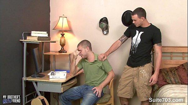 Tattooed gays sucking their large pricks