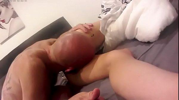 Секс в черном платье и чулках