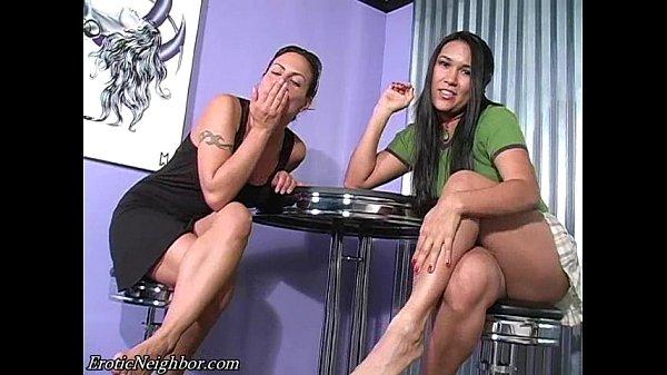 Latina shoe dangling and JOI